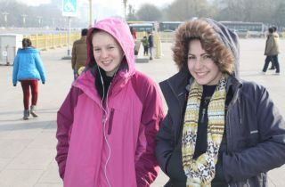 Keely and Liana - it was a bit cold