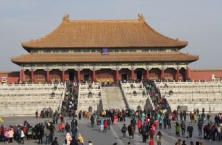One of the halls of meeting in the Forbidden City